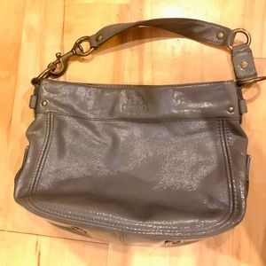 Coach Leather Grey tote - vintage